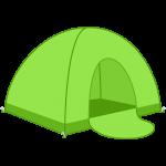 テントの無料イラスト