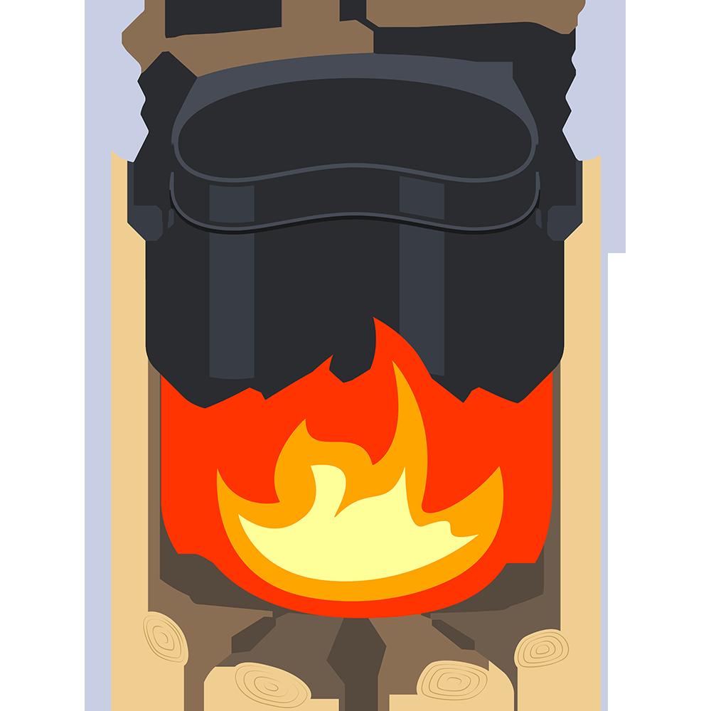 飯盒炊飯の無料イラスト
