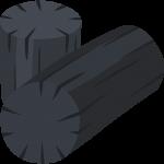 炭(木炭)の無料イラスト