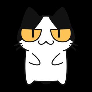 猫コハクちゃんの無料イラスト