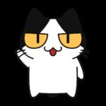 しゃべる猫コハクちゃんの無料イラスト
