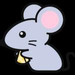 チーズを食べるネズミの無料イラスト(2)