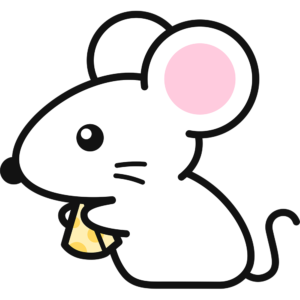 チーズを食べる白いネズミ(2)