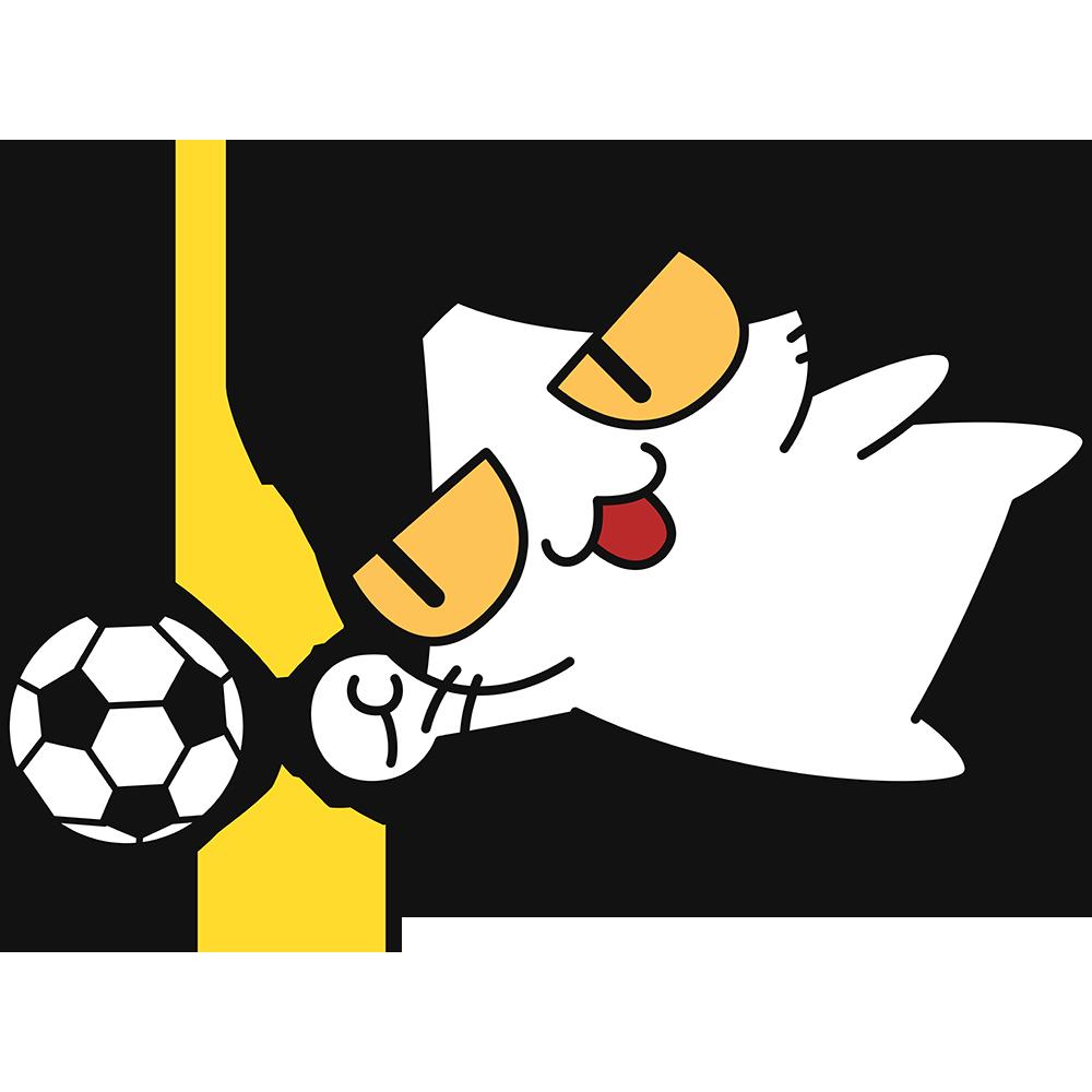 サッカー:パンチングをする猫の無料イラスト