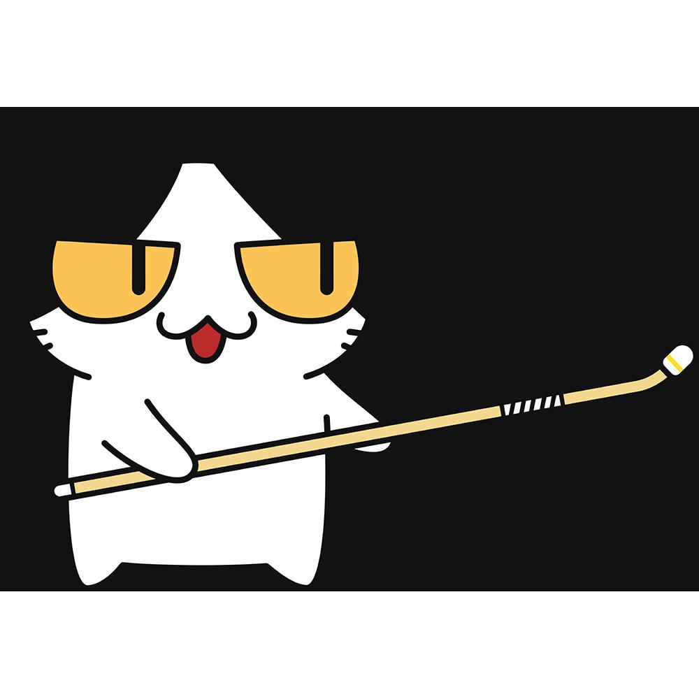 なぎなたをする猫の無料イラスト