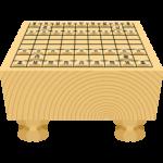 将棋盤と駒の無料イラスト