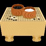 囲碁(碁石と碁盤)の無料イラスト