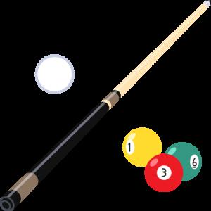 ビリヤード(キューと球)