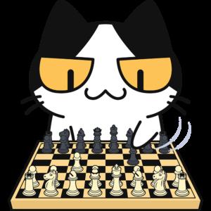 チェスをする猫