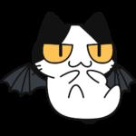 悪魔猫コハクちゃんの無料イラスト