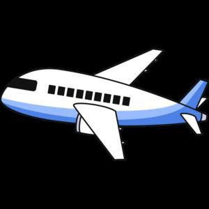 飛行機の無料イラスト