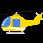 ヘリコプターの無料イラスト