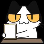 新元号(白紙)を発表する猫の無料イラスト