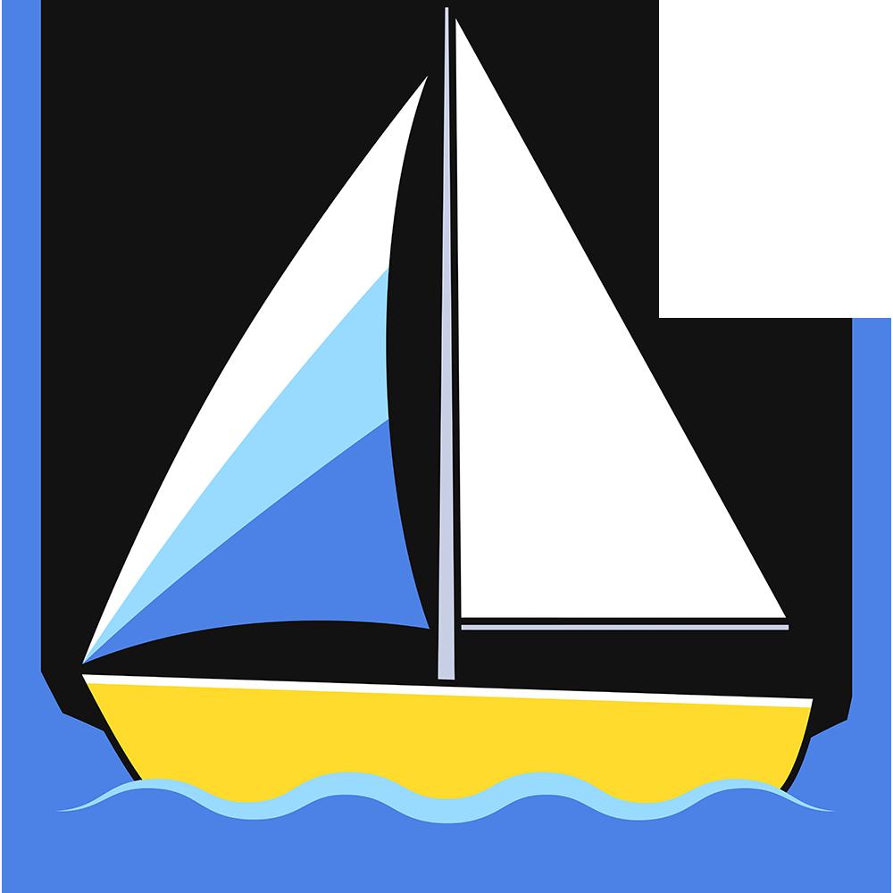 ヨットの無料イラスト