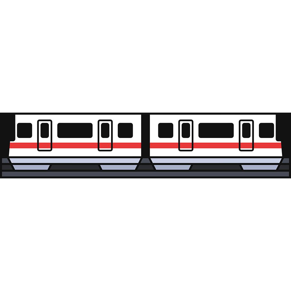 跨座式モノレールの無料イラスト