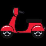 原付バイク(スクーター)の無料イラスト