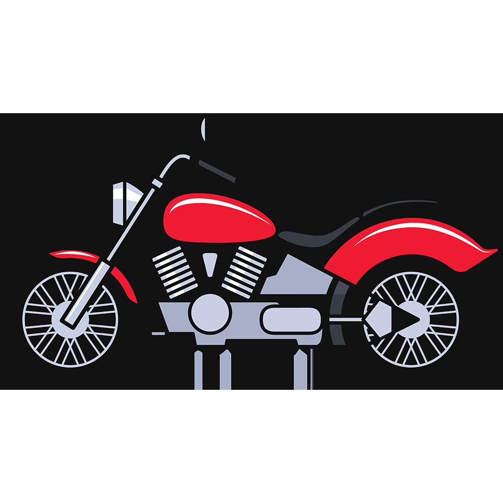 大型バイクの無料イラスト