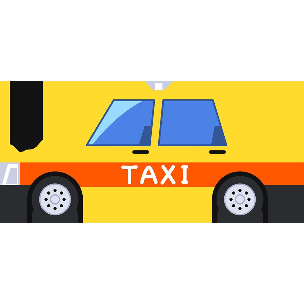 タクシーの無料イラスト