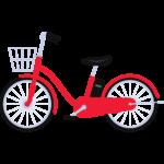 電動自転車の無料イラスト