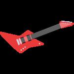 エレキギターの無料イラスト