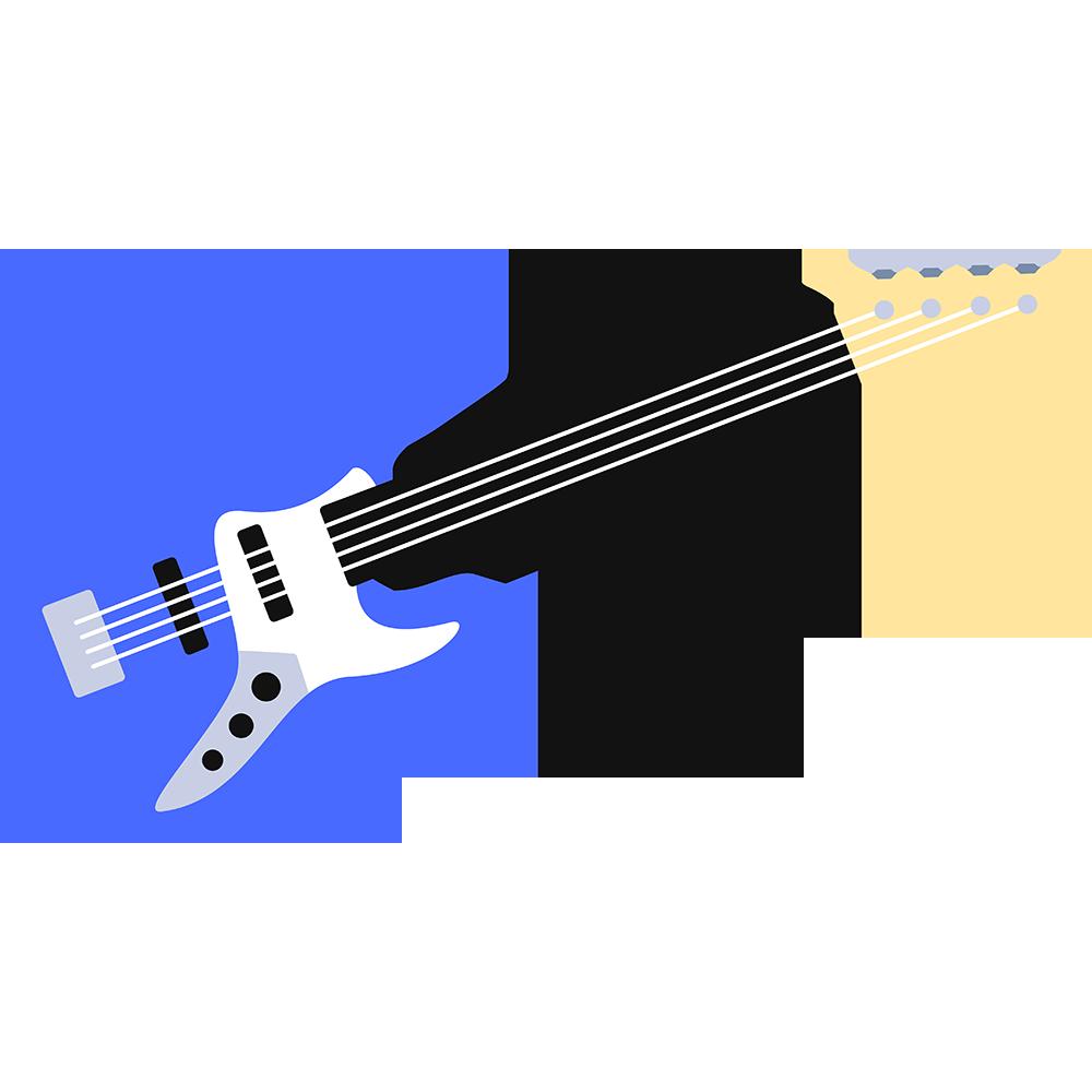 ベースギターの無料イラスト