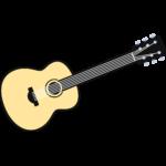 アコースティックギターの無料イラスト
