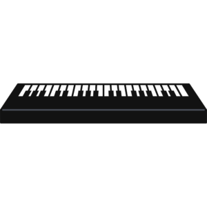 電子ピアノの無料イラスト