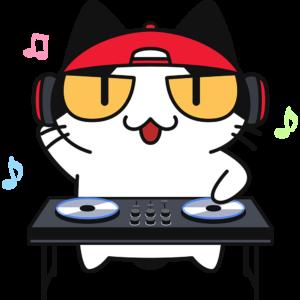 DJをする猫