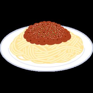 ミートソーススパゲッティの無料イラスト