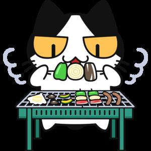 バーベキューする猫