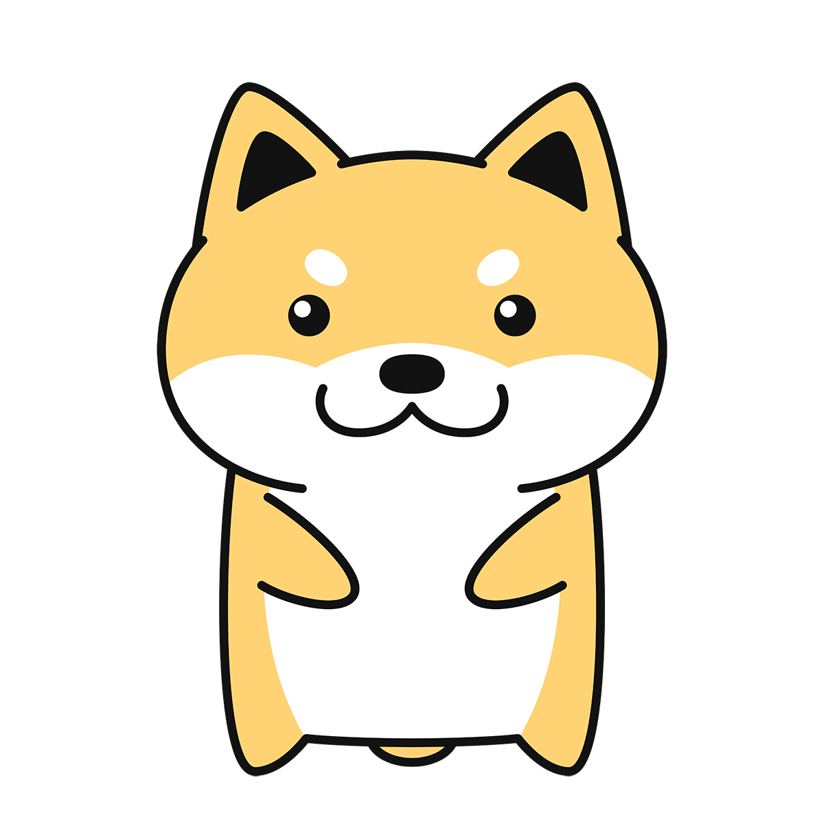 柴犬(コタロー)の無料イラスト