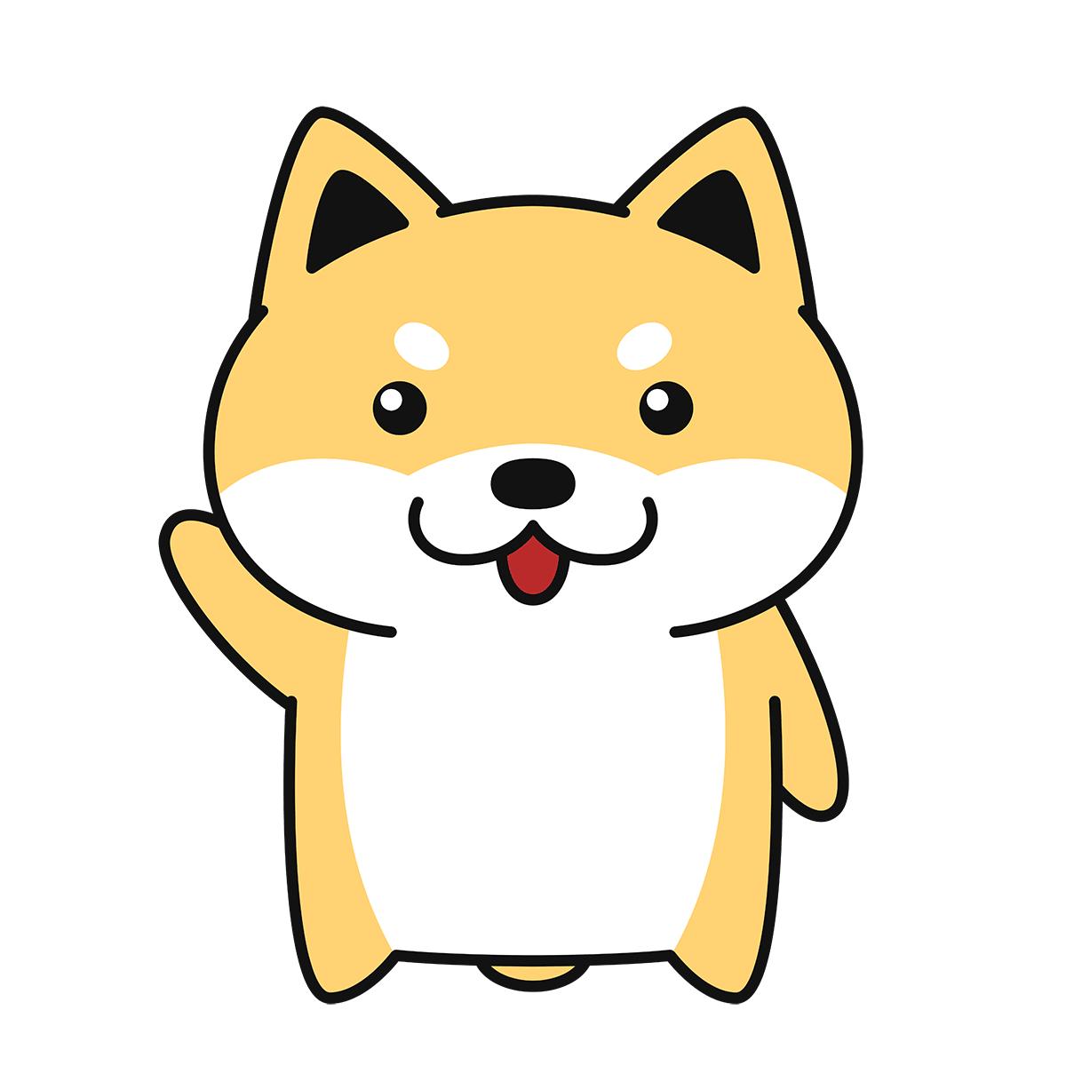 しゃべる柴犬(コタロー)の無料イラスト