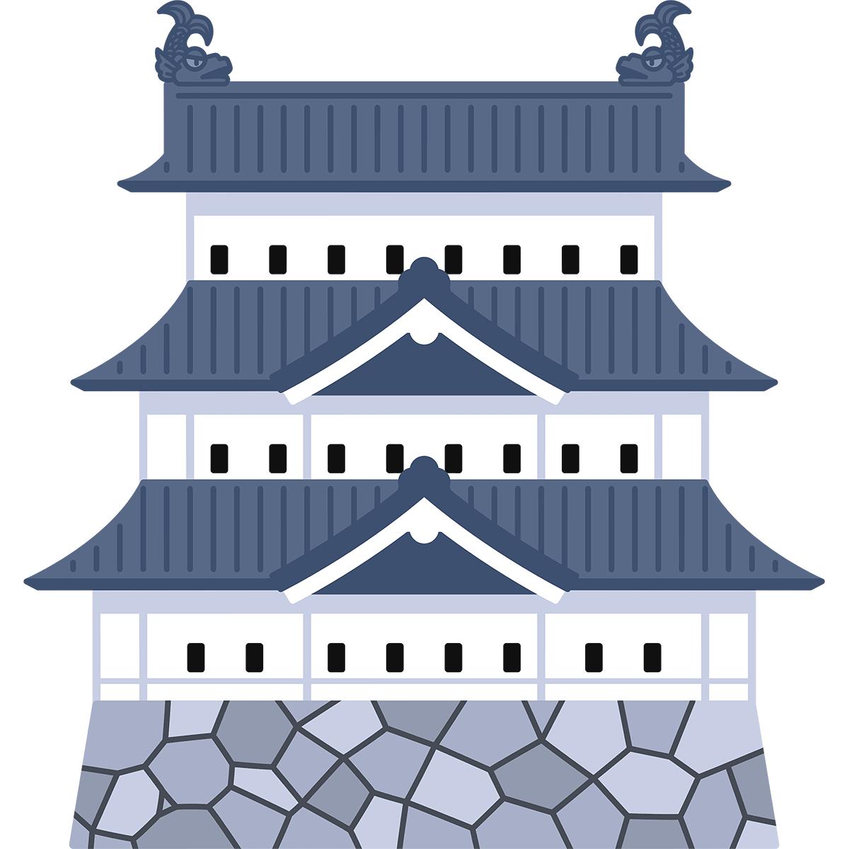 弘前城の無料イラスト