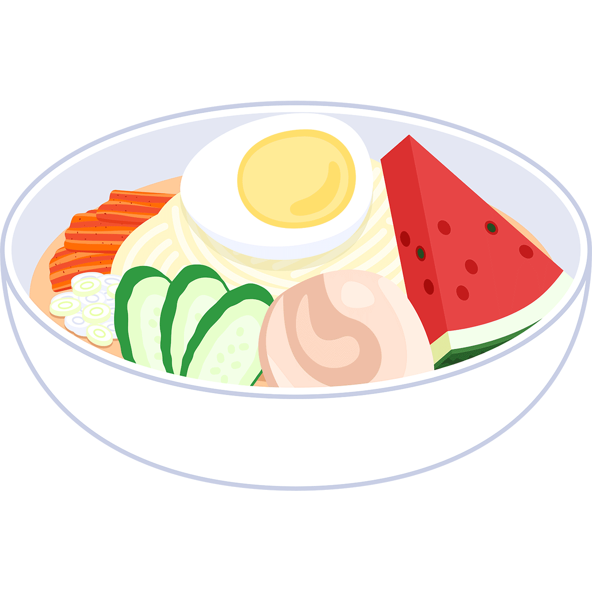 盛岡冷麺の無料イラスト