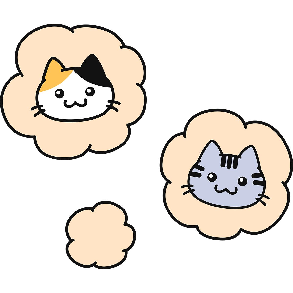 猫の臭いの無料イラスト
