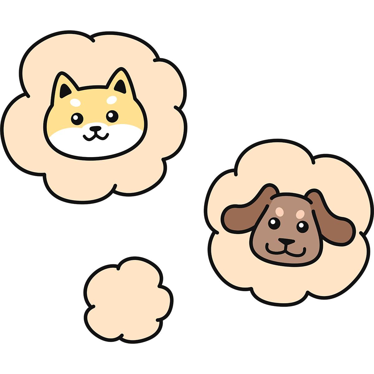 犬の臭いの無料イラスト