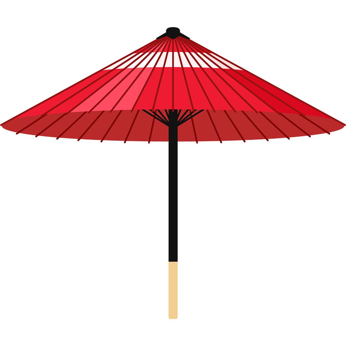 和傘の無料イラスト
