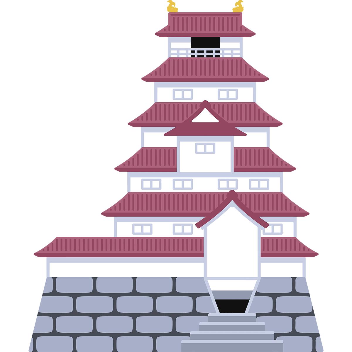 会津若松城(鶴ヶ城)の無料イラスト