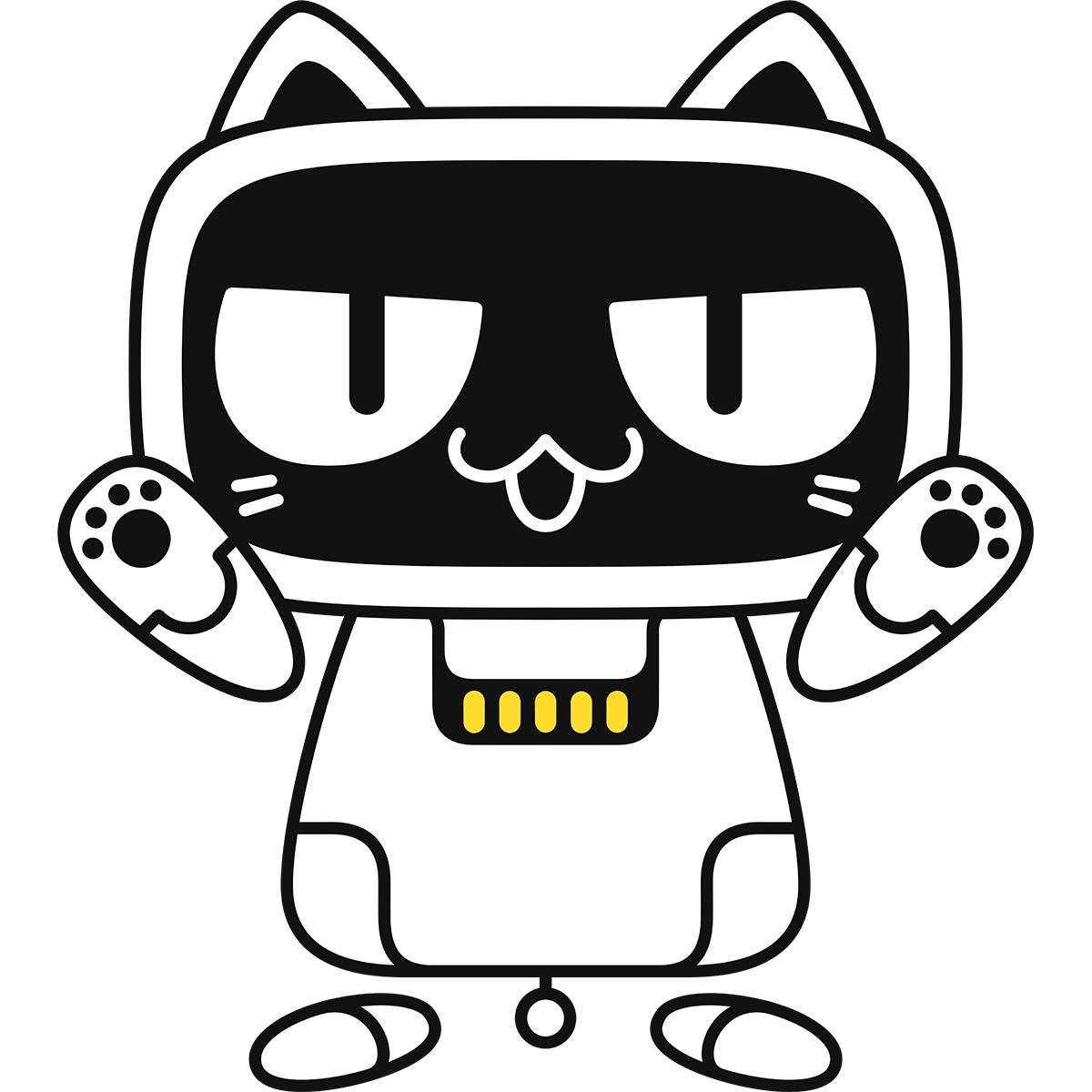 猫型ロボットの無料イラスト
