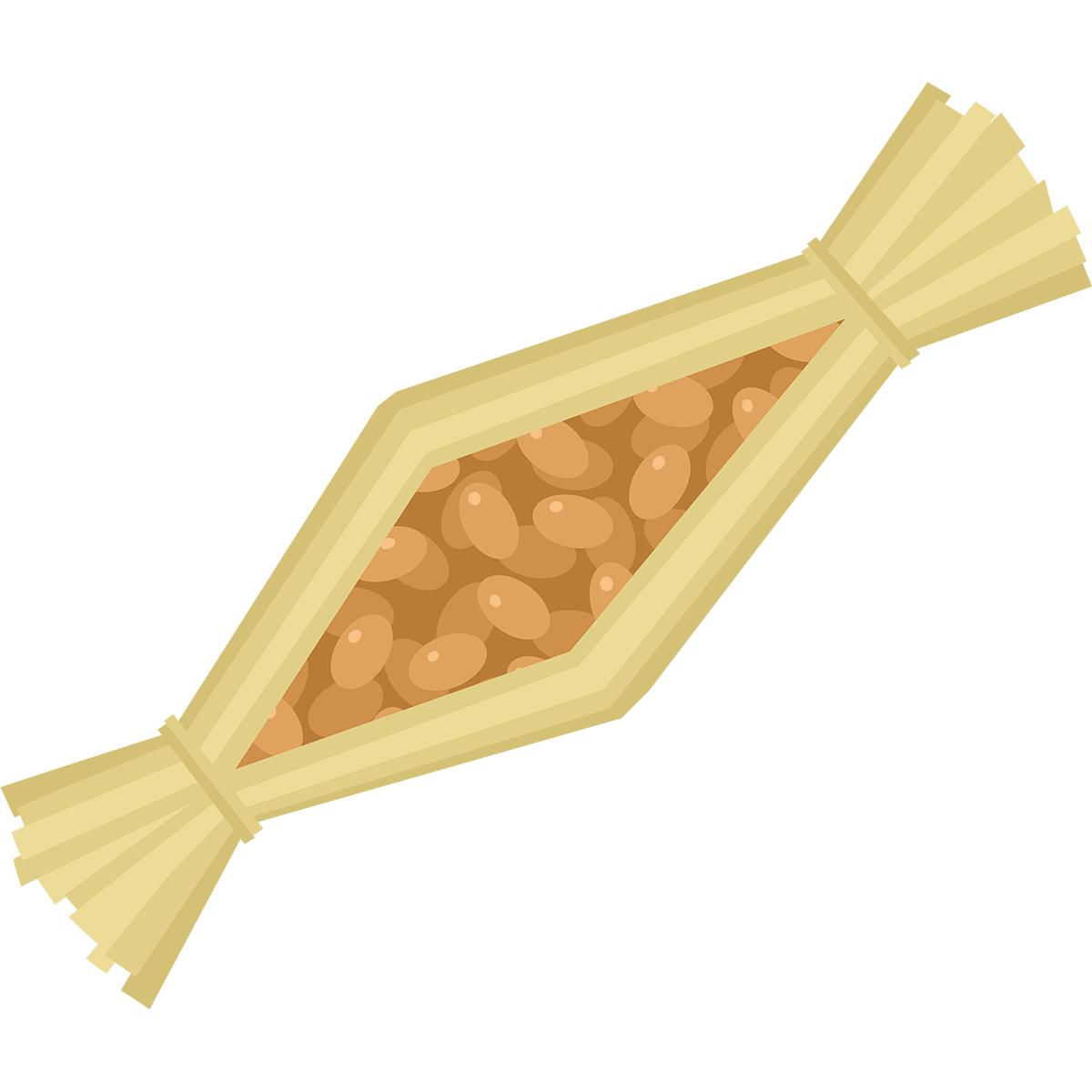 わら納豆の無料イラスト