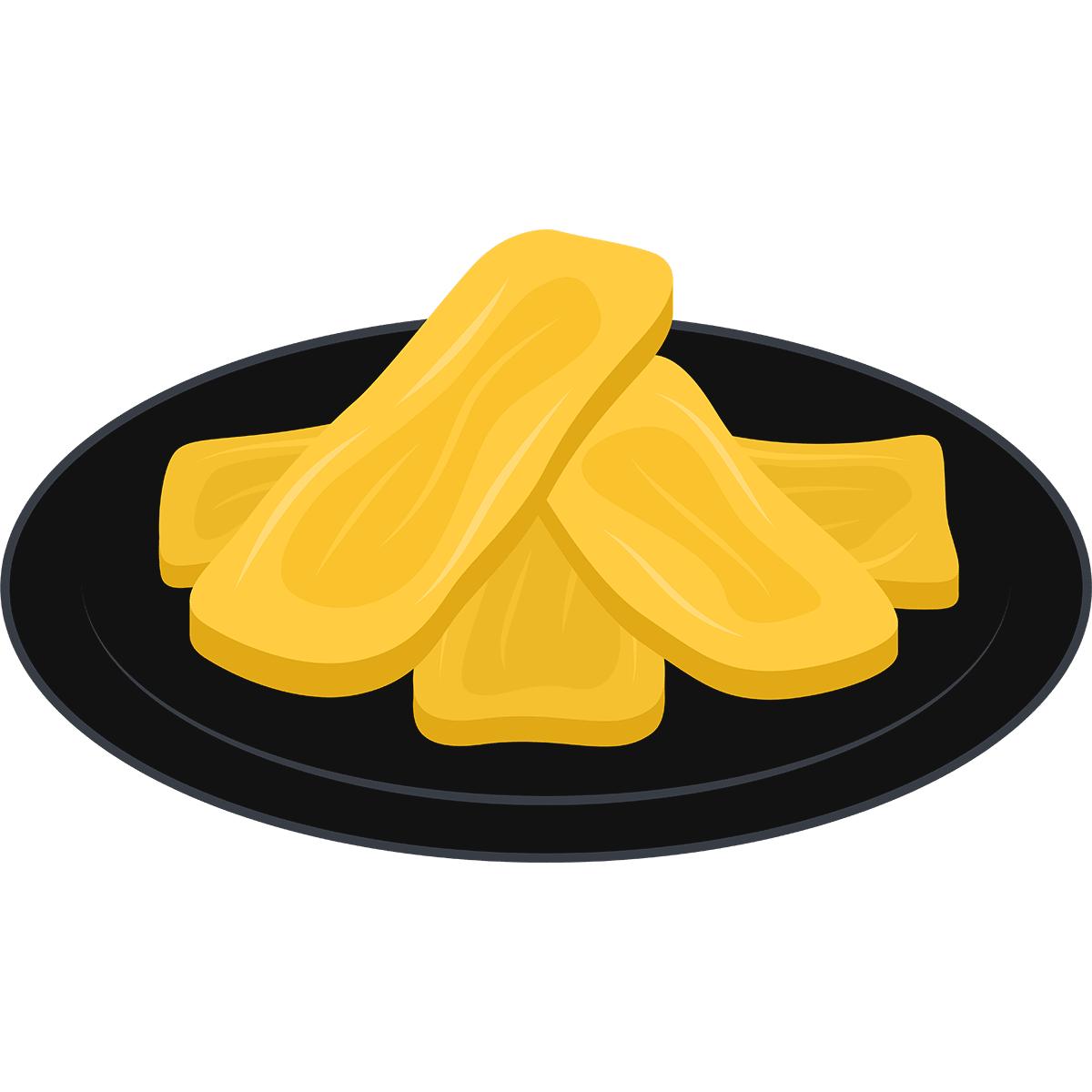 干し芋の無料イラスト