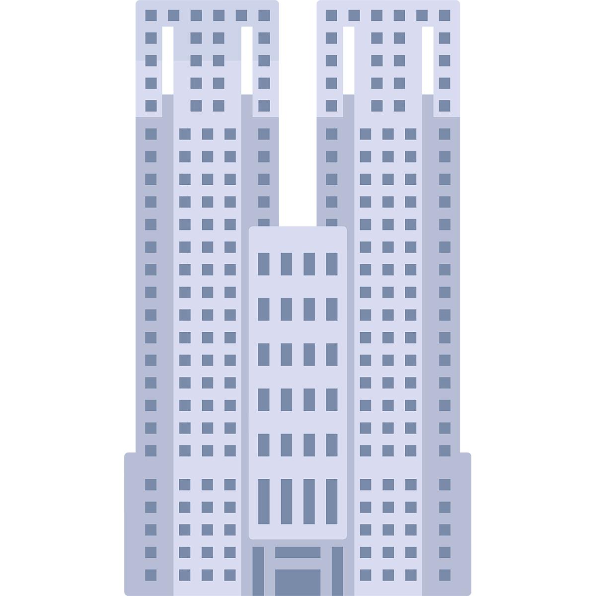 東京都庁の無料イラスト