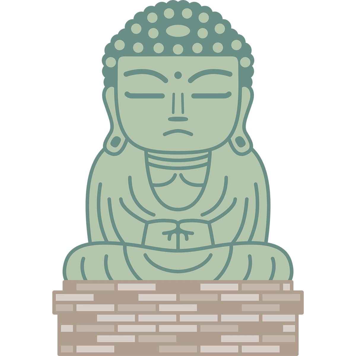 鎌倉の大仏の無料イラスト
