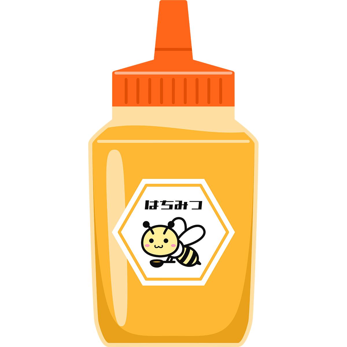 蜂蜜の無料イラスト