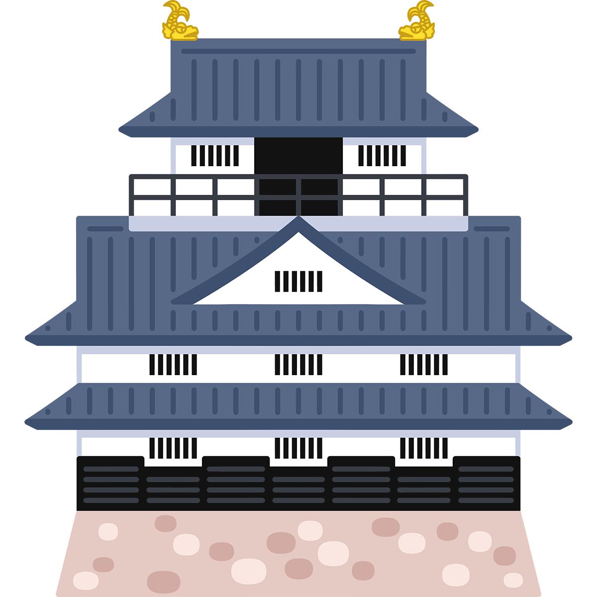 岐阜城の無料イラスト