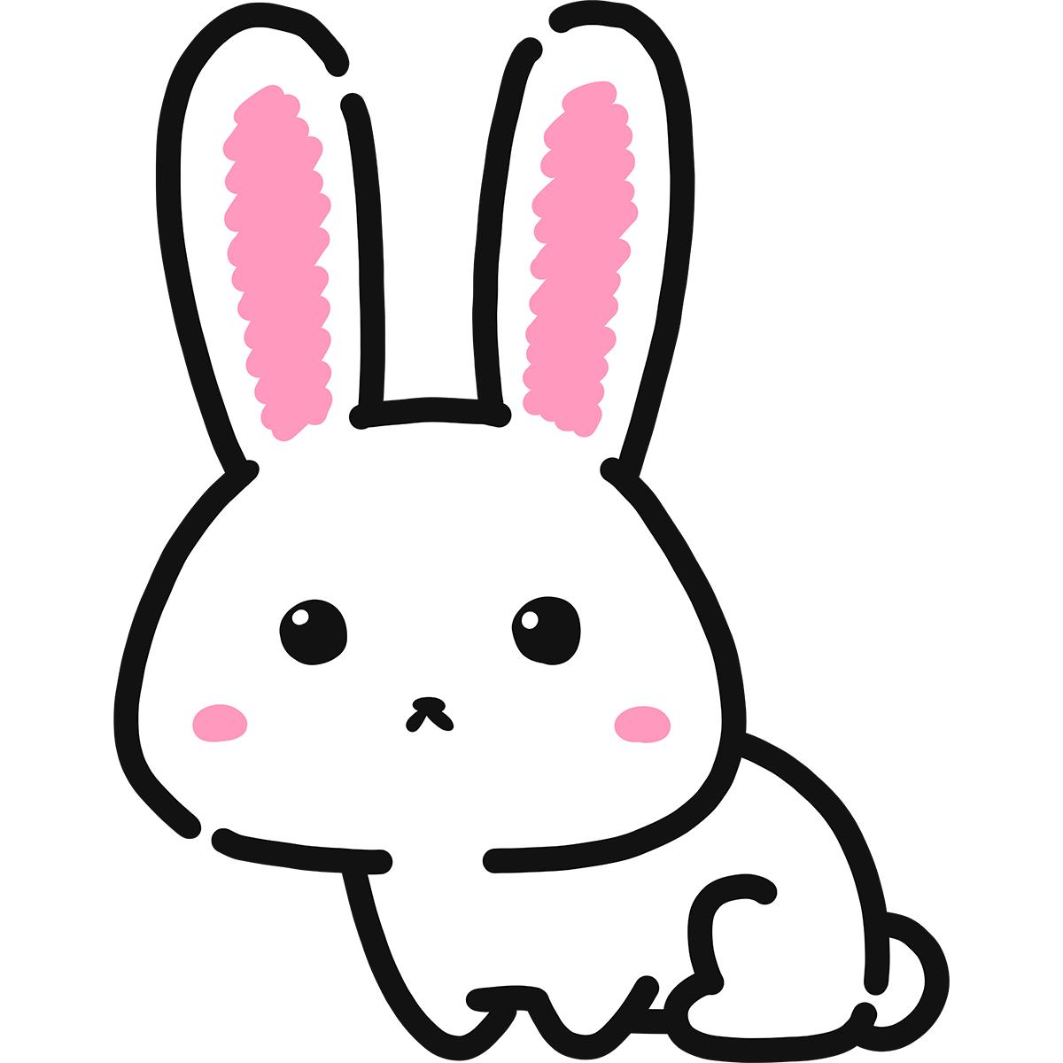 【手描き】ウサギの無料イラスト