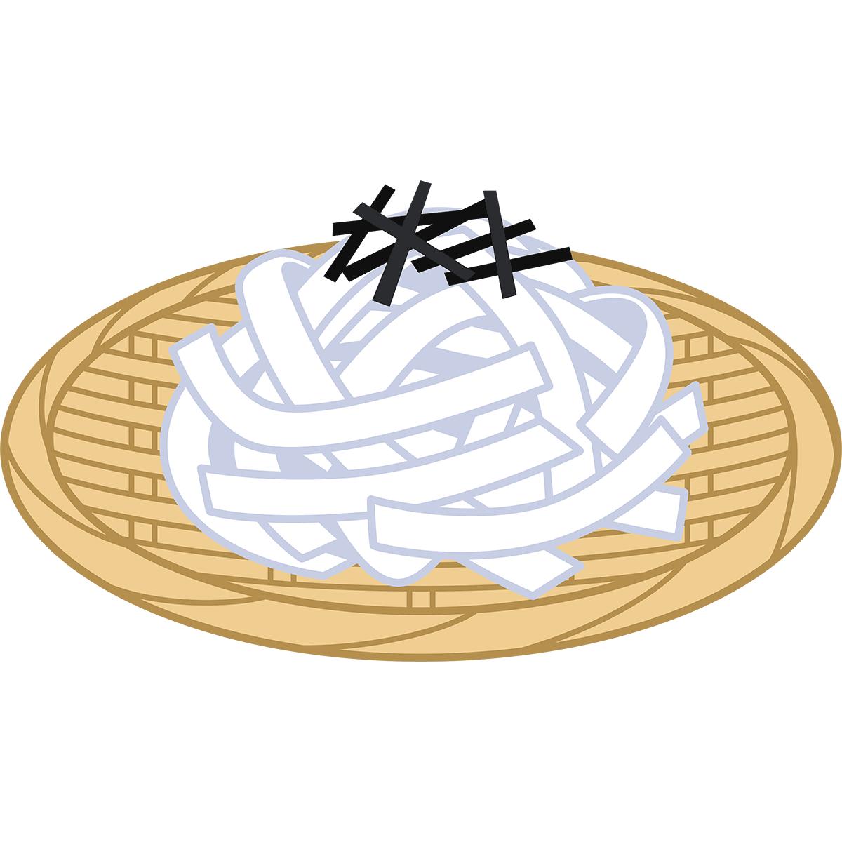 ざるきしめんの無料イラスト