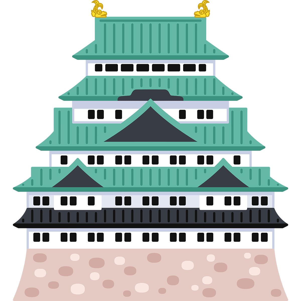 名古屋城の無料イラスト