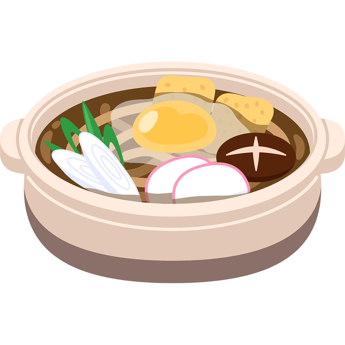 味噌煮込みうどんの無料イラスト