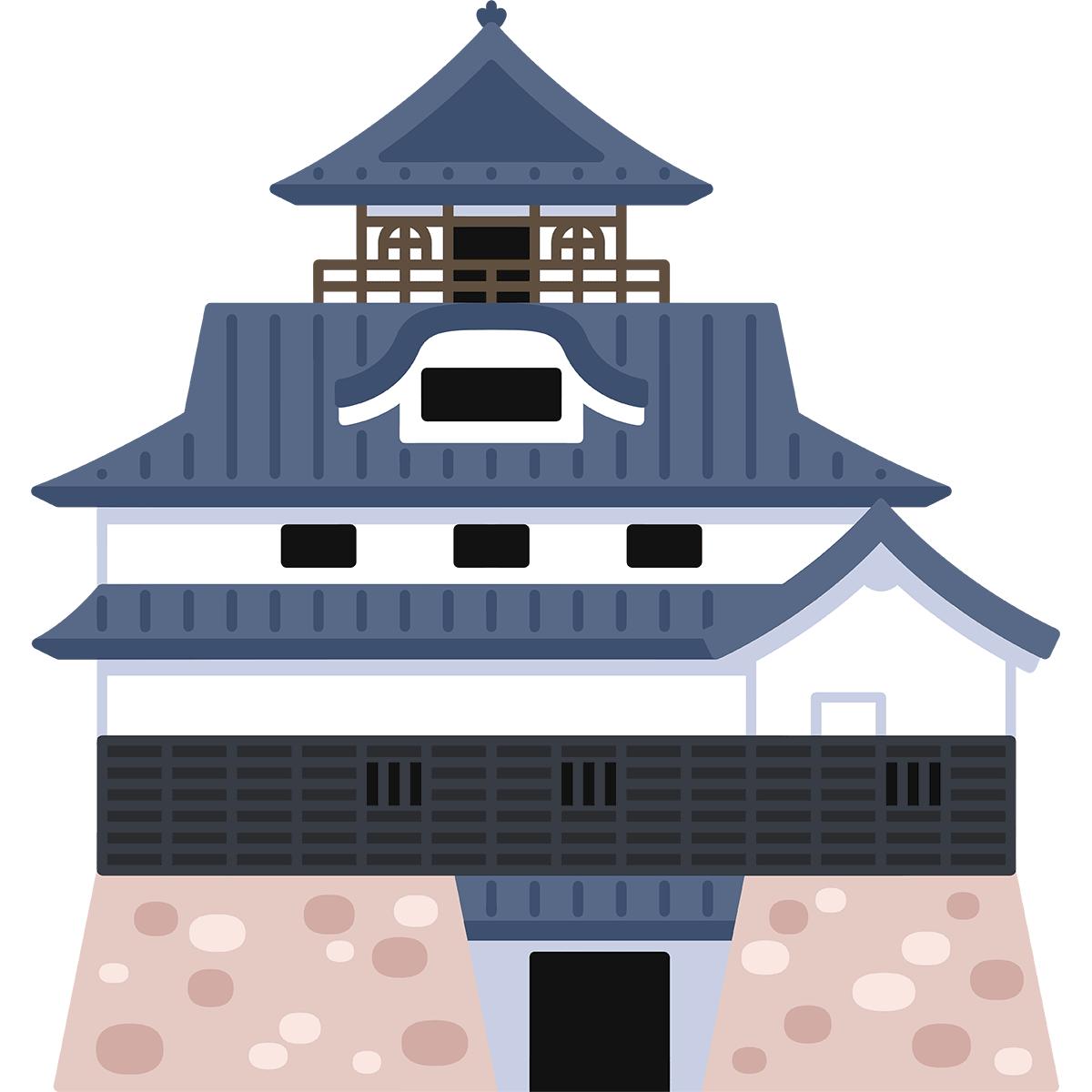 犬山城の無料イラスト